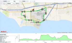 The Winning 8-mile Run Route