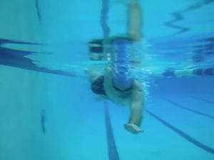 Aric Practicing in the Pool
